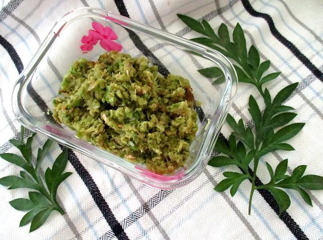 My sambal cabe ijo & ulam raja leaves