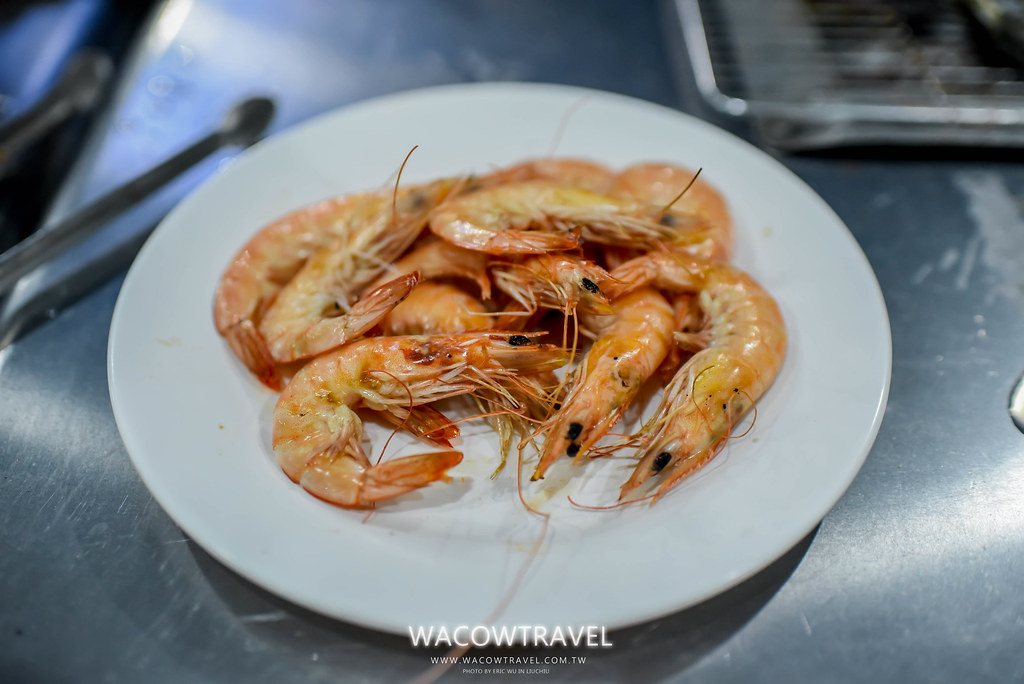 小琉球美食-筑安心燒物BBQ鮮蝦照2