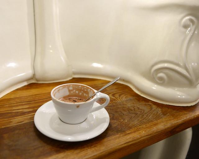 Mi chocolate en los urinarios de Attendant