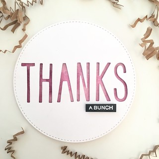 Circle thank you card | by Kimberly Toney