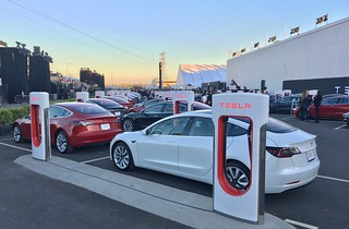The first Model 3 production cars, ready for delivery | by jurvetson