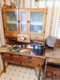 Oak Possum belly kitchen cabinet | by thornhill3