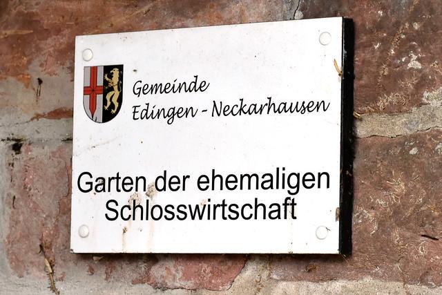 Edingen-Neckarhausen, Garten der ehemaligen Schlosswirtschaft, Barock-Schlössel Edingen, Foto: Brigitte Stolle