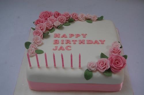 Stupendous Beautiful Pink Rose Birthday Cake Beautiful Birthday Cakes Funny Birthday Cards Online Sheoxdamsfinfo