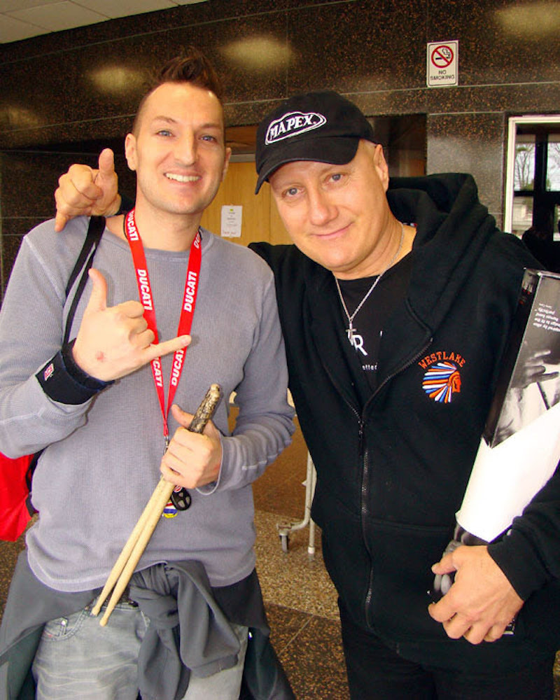 Casey Gobbi hanging with Gregg Bissonette