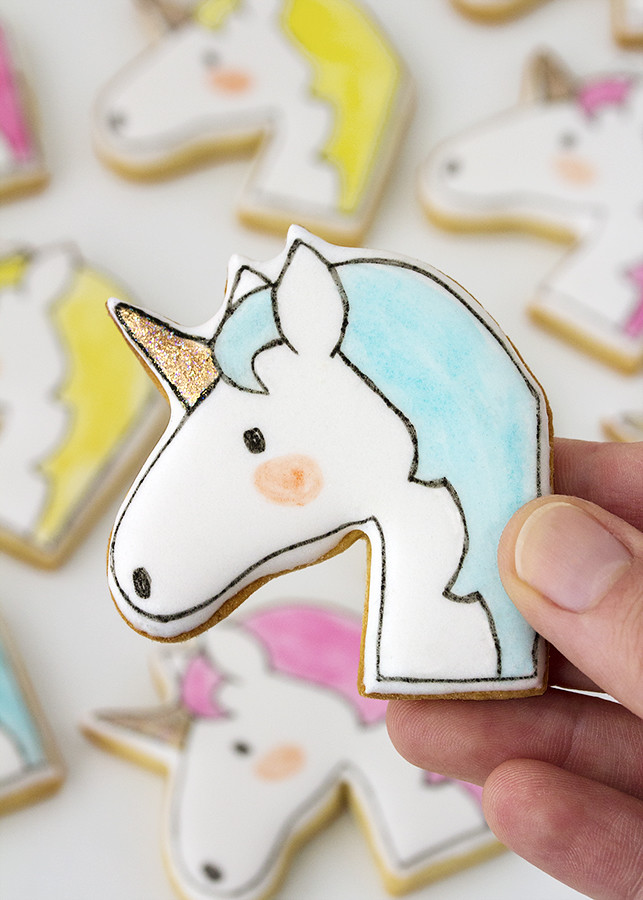 galleta decorada unicornio