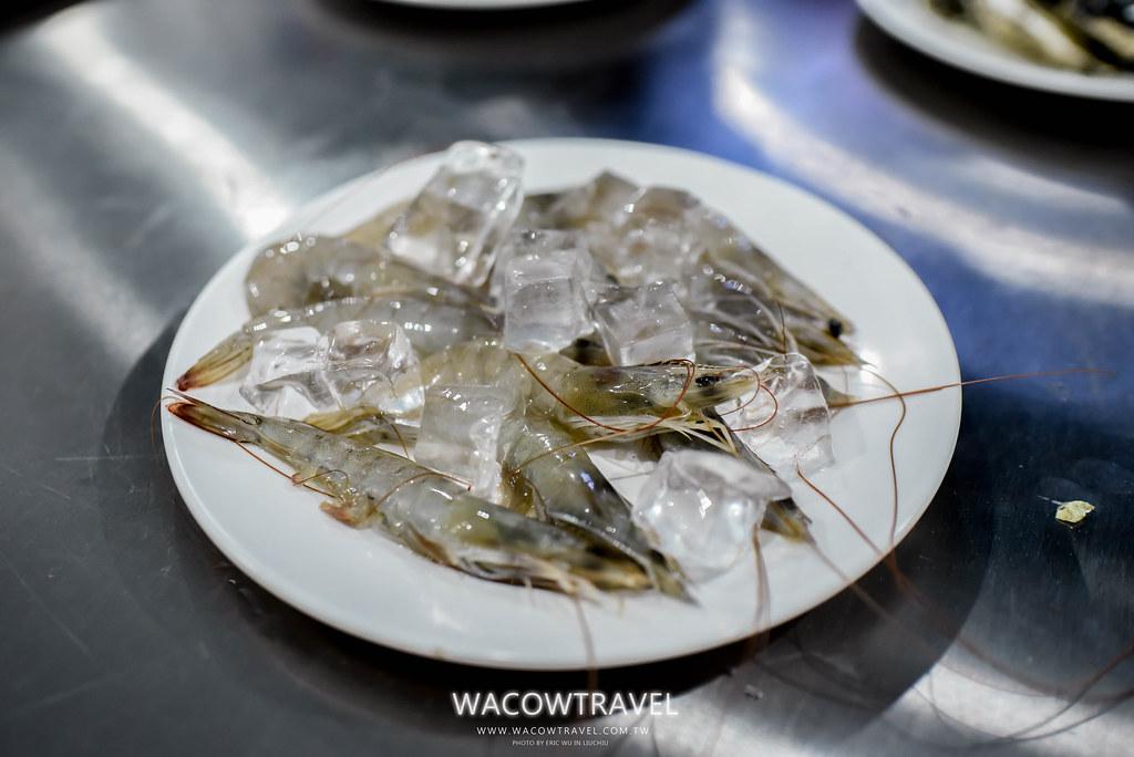 小琉球美食-筑安心燒物BBQ鮮蝦照