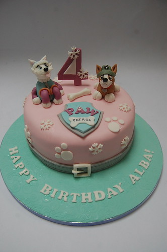 Paw Patrol Cake Tracker And Everest Beautiful Birthday