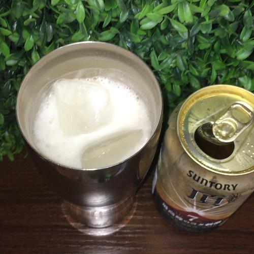 ビール:頂、氷たっぷりで飲む、おすすめ