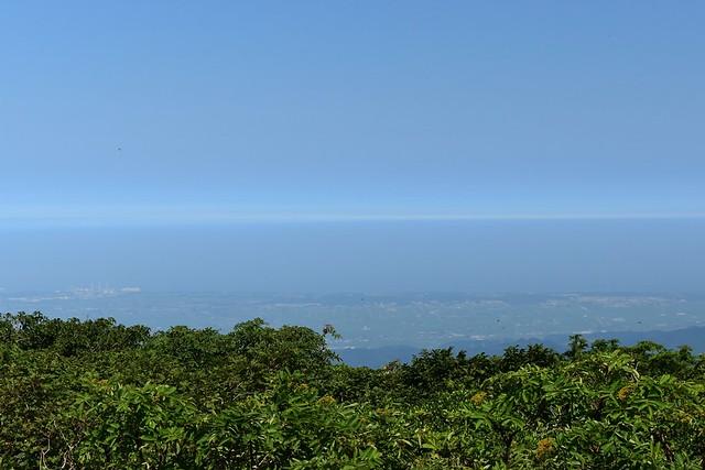 二王子岳からの海の展望