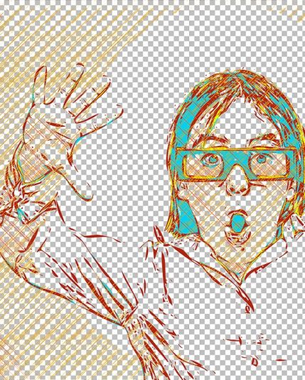 Transparent vector path – beautiful action for Photoshop