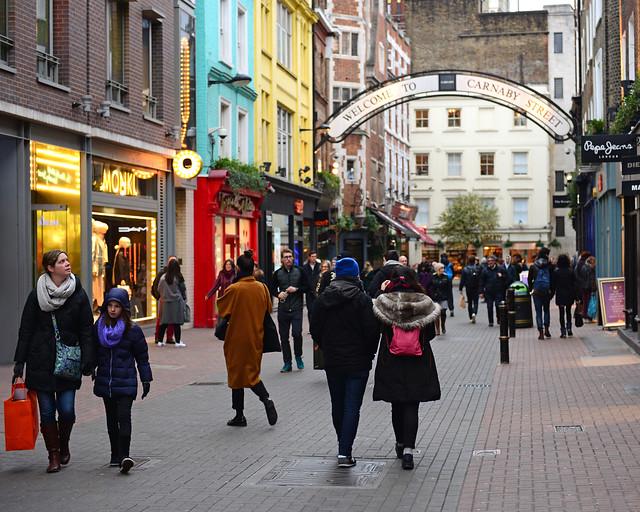 Carnaby Street, una de las calles más bonitas que ver en Londres