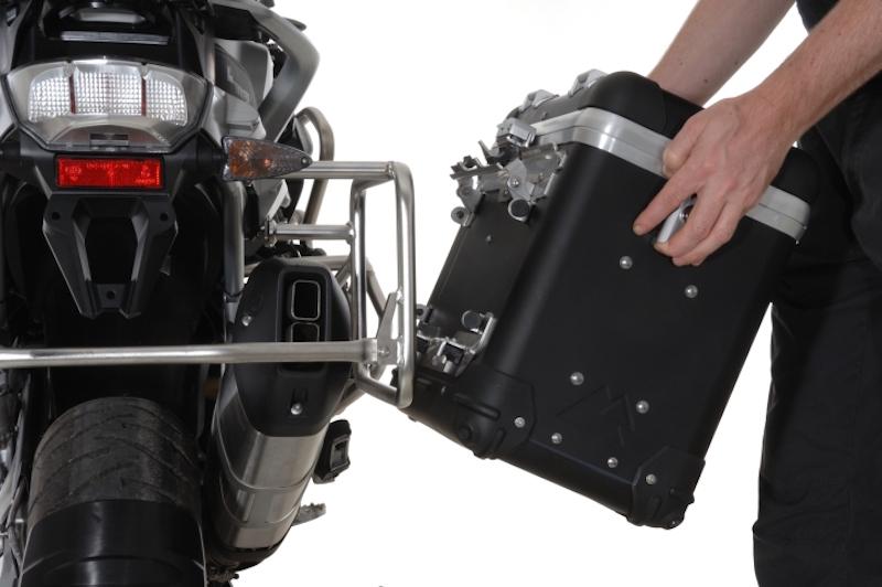 2014 Touratech Black Anodized ZEGA Pro 2 Panniers System