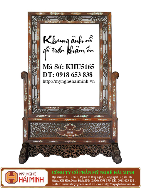 KHU165a  Khung anh co go trac kham oc  do go mynghehaiminh