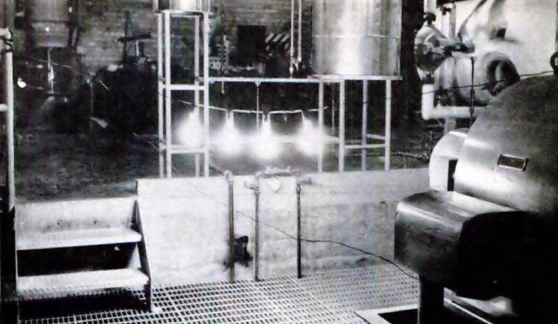 Making history are these four bulbs as they glow with the first electricity ever produced by atomic energy. (Experimental Breeder Reactor I)