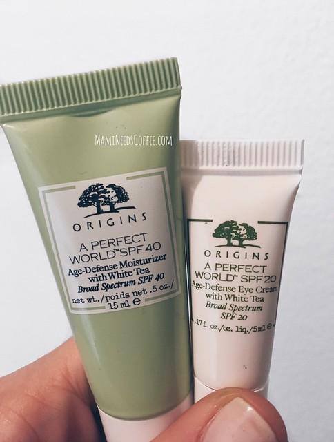 Origins Age Defense Moisturizer with White Tea and Origins Age Defense Eye Cream with White Tea