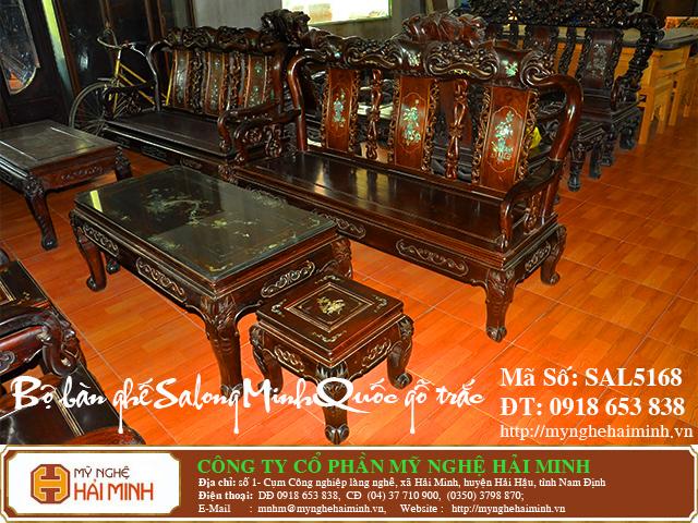 SAL5168b  Bo ban ghe Salong Minh Quoc go Trac  do go mynghehaiminh