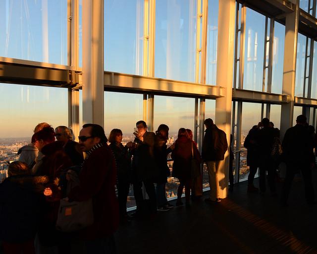 Mirador The Shard al atardecer, uno de los mejores que visitar en Londres