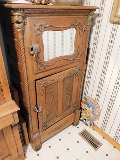 Ornate oak parlor ice box | by thornhill3
