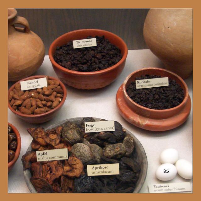 Getrocknete Aprikosen aus dem Römermuseum ... Foto: Brigitte Stolle
