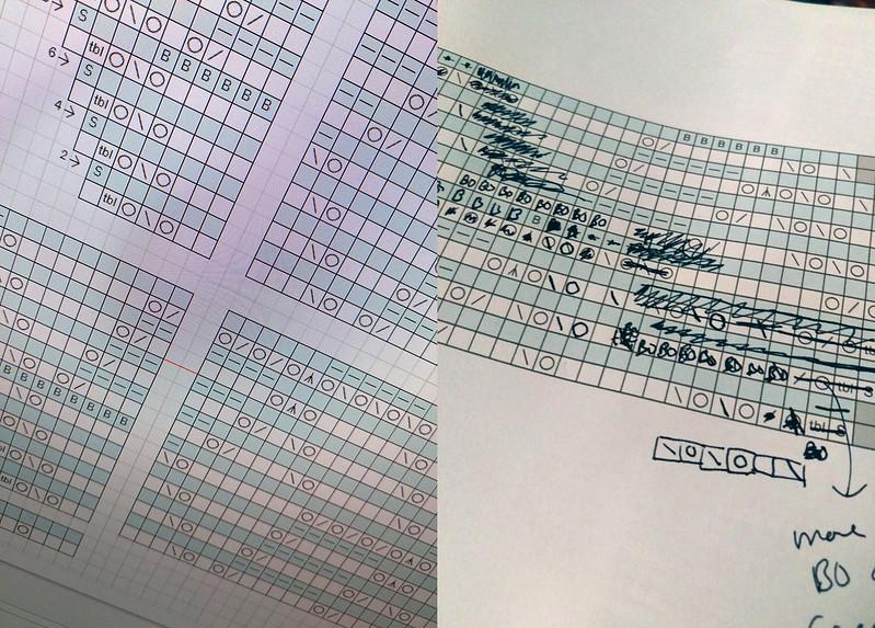 Crystalline Shawl chart development