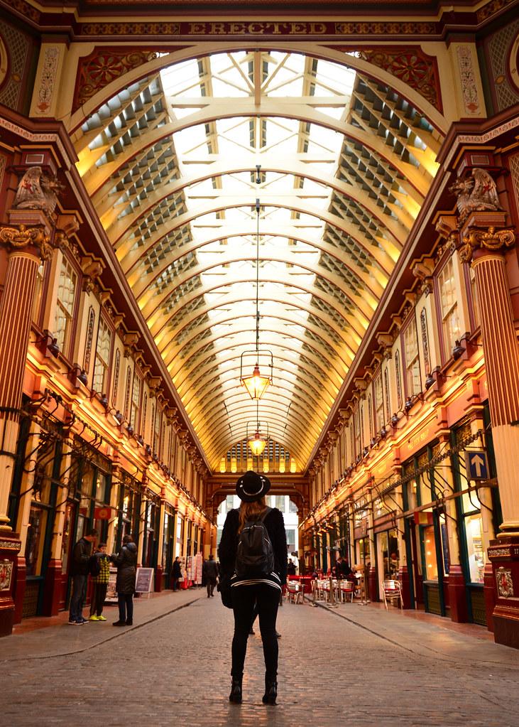 Alucinando en Leadenhall Market, uno de los sitios más bonitos que ver en Londres