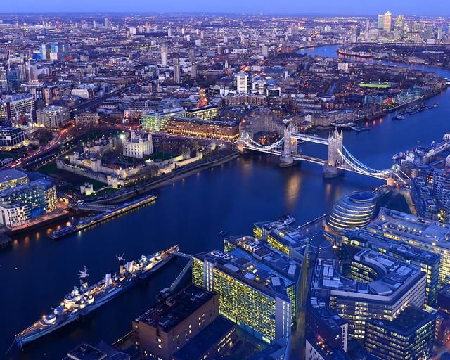 Vistas aéreas de Londres
