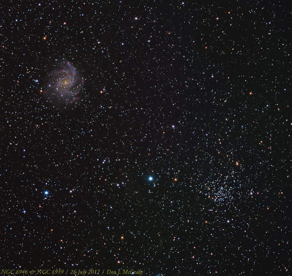 NGC 6946 & NGC 6939   Here's a...