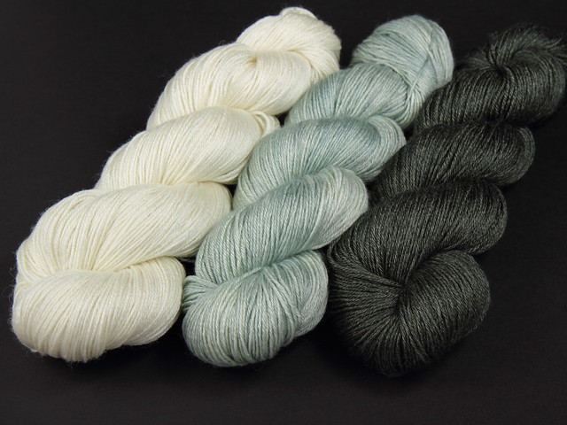 Brilliance 4 Ply – British Bluefaced Leicester wool and silk bend hand-dyed yarn – neutrals pack