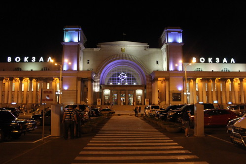 Dnipro Holovny train station at night | by Timon91
