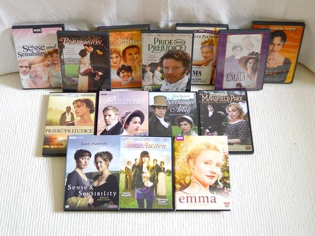 Jane Austen Rewatch Owned Adaptations