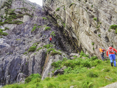 The start of Idwal Staircase