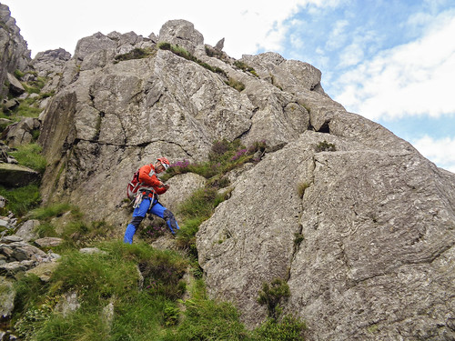 Neil about to start the route