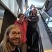 Jon & Sarah & Dawn on escalator