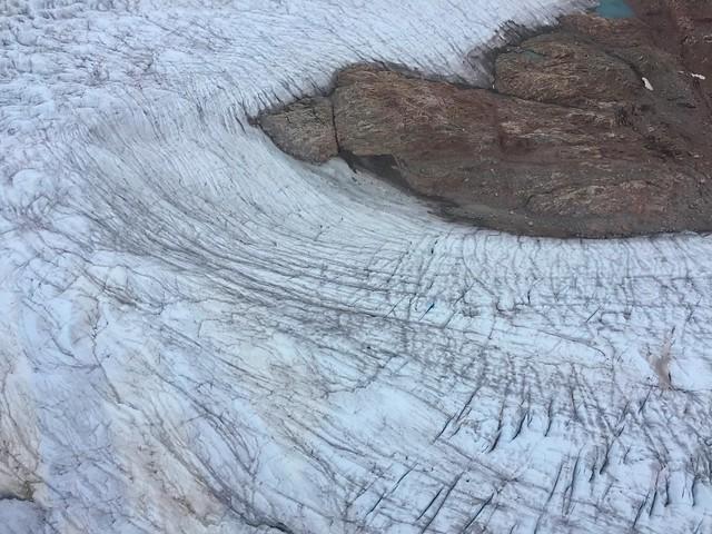 Glaciar Qorqup desde un helicóptero (Viaje al Sur de Groenlandia con Tierras Polares)