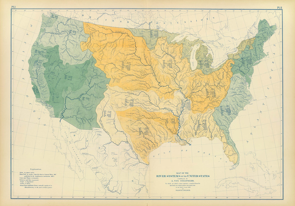 River Systems of the United States (1870)