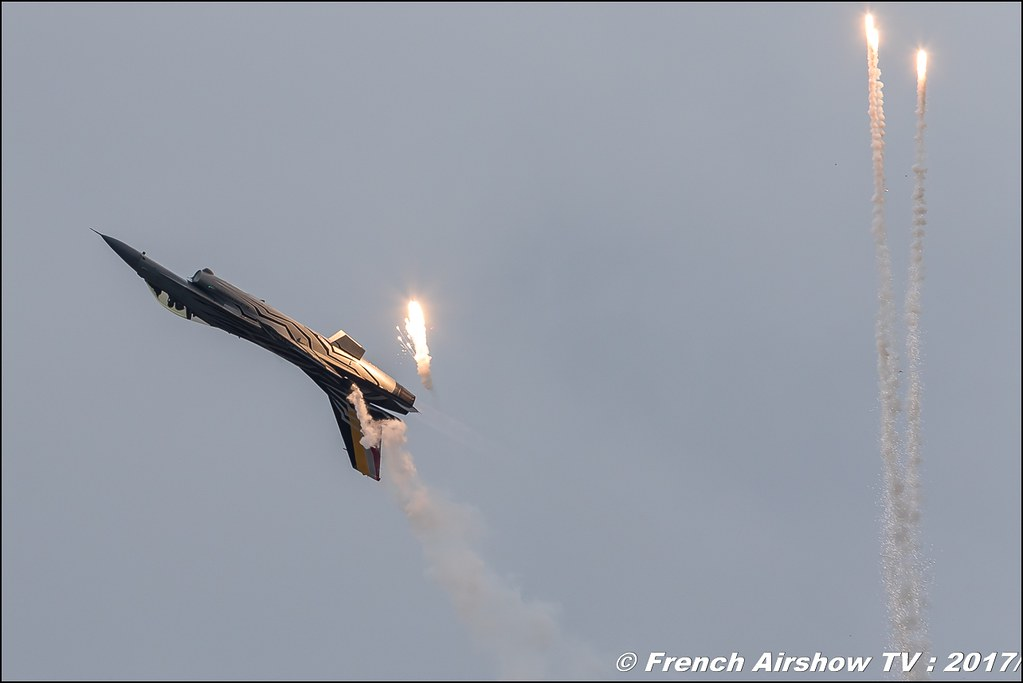 Belgian Air Force F-16 Solo Display , f 16 solo display belge , BAF , Meeting de France 2017 , Dijon longvic , Bleuciel Airshow, meeting aerien dijon 2017 , Meeting aerien de France a Dijon