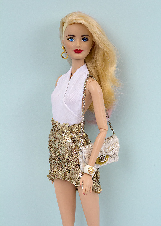 Barbie sequin skirt