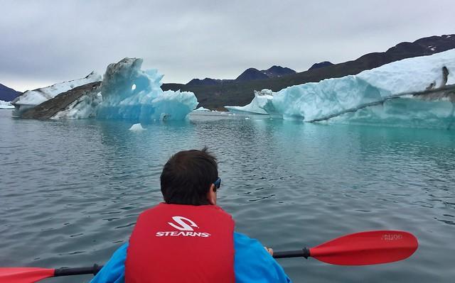 Sele en kayak en Groenlandia (Tasiusaq)