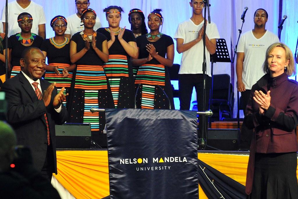 Deputy president cyril ramaphosa addresses nelson mandela - Nelson mandela university port elizabeth ...