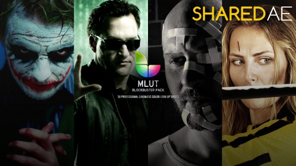 MotionVFX - mLUT Blockbuster Pack – 30 Professional Cinematic Color Look-Up Tables (Win/Mac)  - Free Download