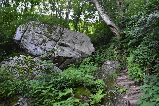 二王子岳 神子石