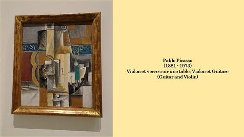 Pablo picasso violon et verres sur une table violon et flickr - Video amour sur une table ...