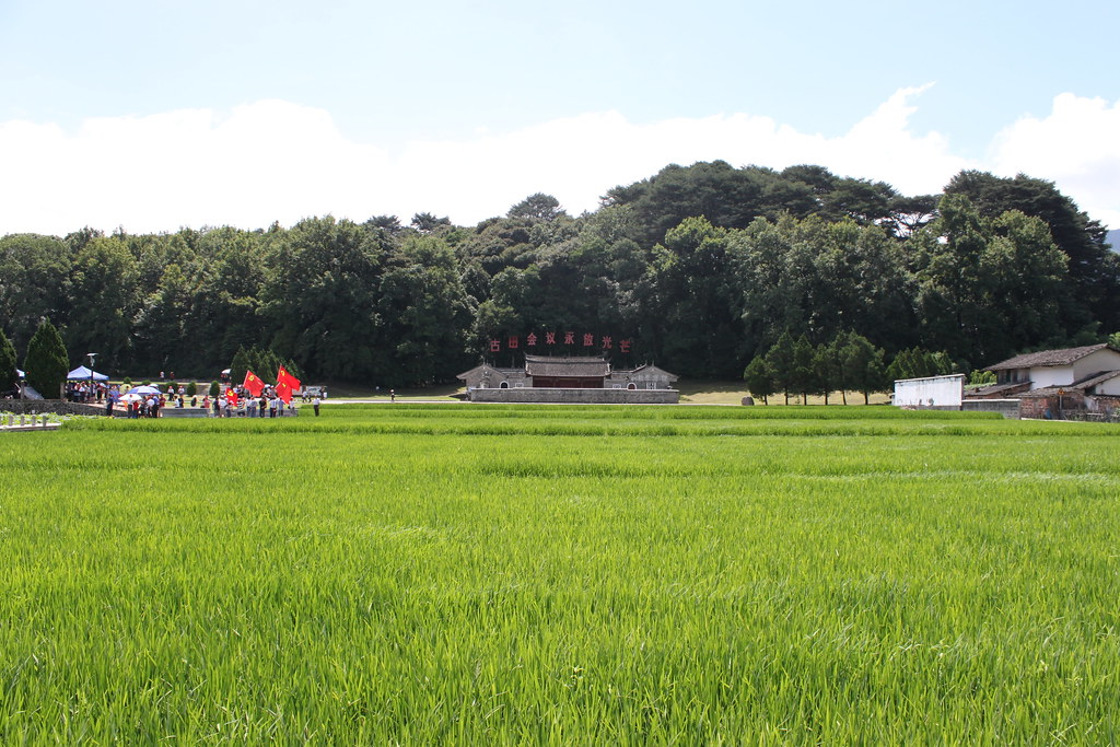 位於福建省上杭縣古田鎮的祠堂背靠著一個大型的風水林。此處也是1929年毛澤東與朱德召開了中國共產黨第九次會議古田會議的會址。(圖片來源:ChrisCoggins)