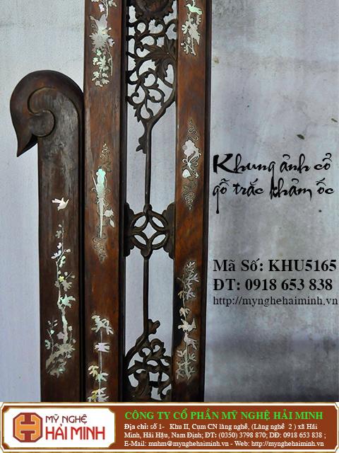 KHU165g  Khung anh co go trac kham oc  do go mynghehaiminh