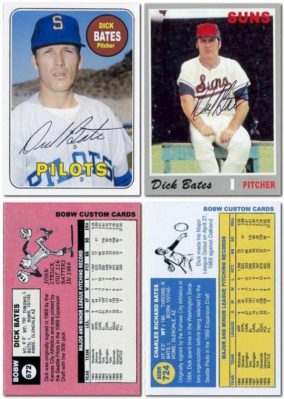 Bobws Custom Baseball Cards October 2014