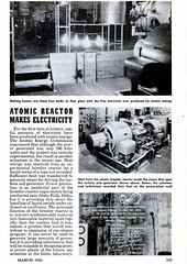 Atomic Reactor Makes Electricity; Popular Mechanics, March 1952