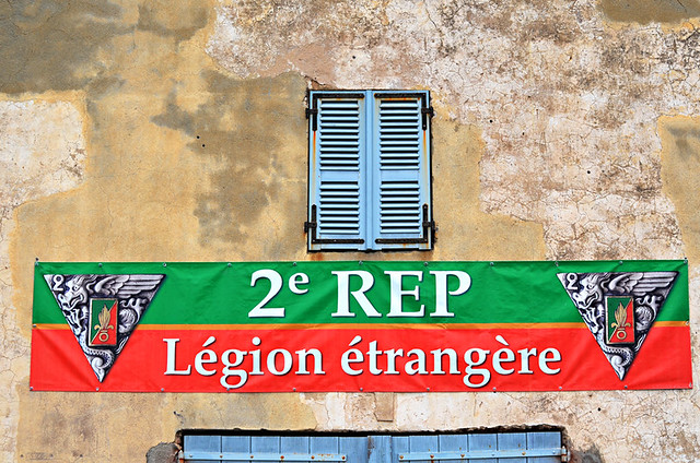 French Foreign Legion flag, the Citadel, Calvi, Corsica