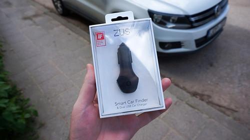 ZUS   išmanus USB kroviklis su automobilio sekimu