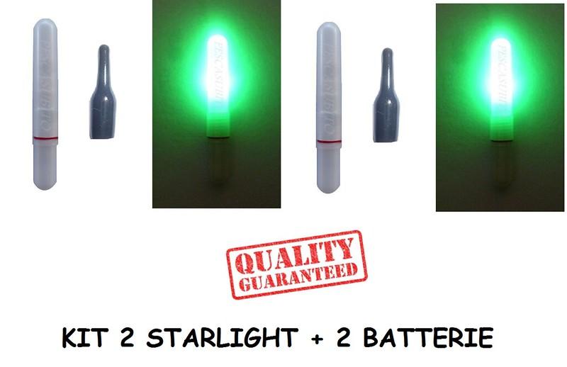 2 BATTERIE CR435 per STARLIGHT A LED pesca JR435 o Ø6,5mm Power-Stations